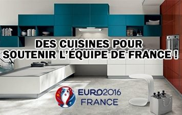 une s lection de cuisines aux couleurs de la france pour l 39 euro 2016 le bon cuisiniste. Black Bedroom Furniture Sets. Home Design Ideas