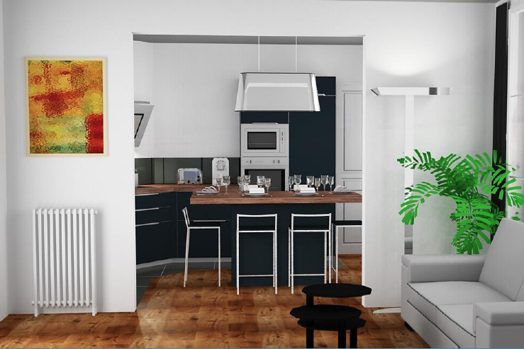 les 1ers plans de cuisines en 3d n es d 39 une rencontre sur le bon cuisiniste le bon cuisiniste. Black Bedroom Furniture Sets. Home Design Ideas